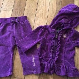 Calvin Klein Infant Velour Track Suit